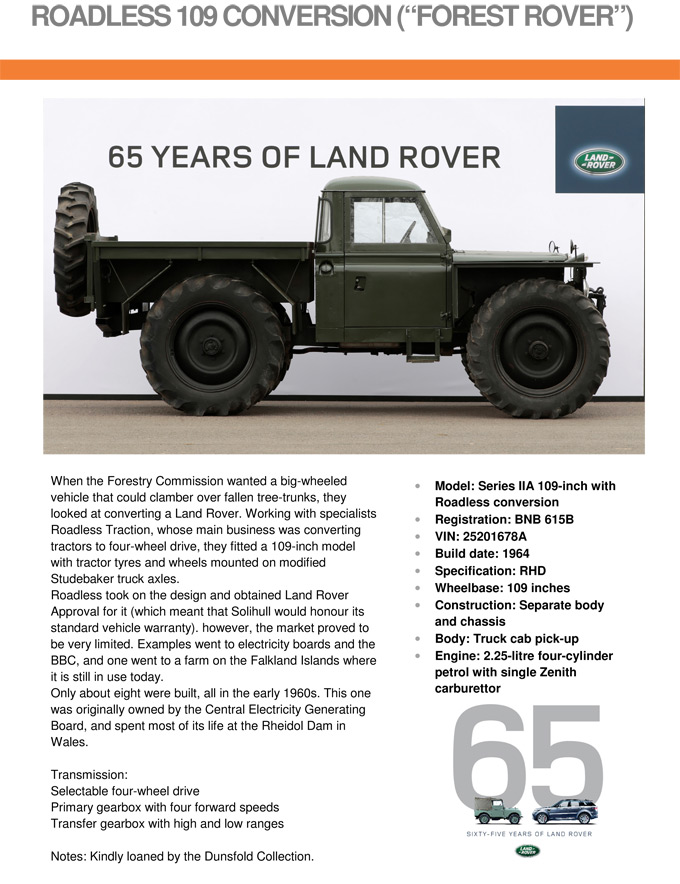 die land rover chronik land rover serie 2 forest rover. Black Bedroom Furniture Sets. Home Design Ideas